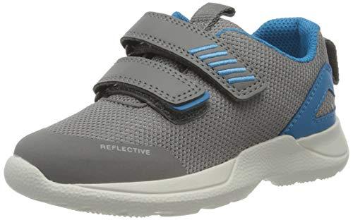 Superfit Baby Jungen Rush Sneaker, Grau (Hellgrau/Blau 25), 28 EU