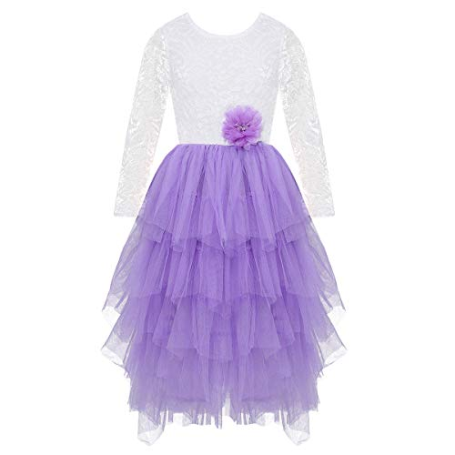Yizyif Bebe Fille Robe De Bapteme Soiree Avec Loose Petales Jupe Volantes Tenue Robe Ceremonie Mariage Robe Princesse 3 24 Mois Robes Bebe Puericulture