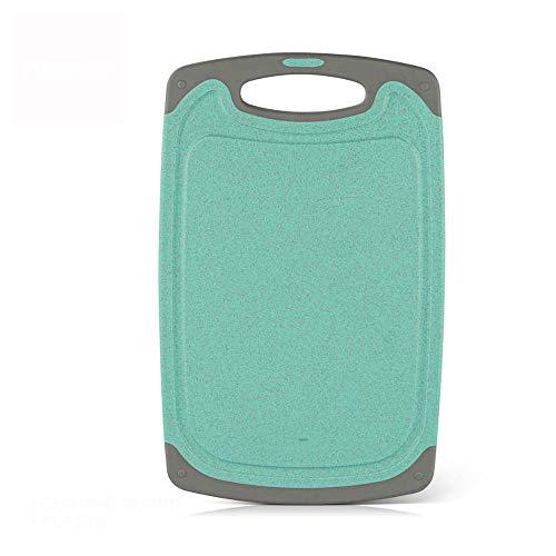 Nonebranded Tablas de Cortar Tabla de Cortar de plástico con Paja de Trigo Natural Grano Antideslizante plástico Herramienta de Cocina
