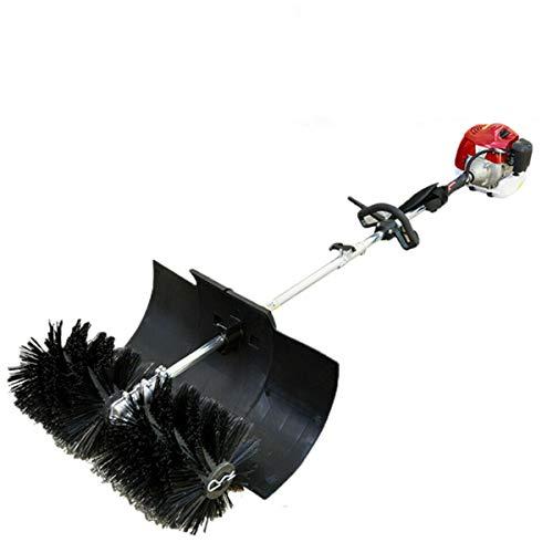 Benzin Motorbesen Kehrmaschine Luftgekühlte Motor Einzylinder Schneeräumer Schneefräse Räumgerät Sweeper 52CC
