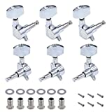 DGQ 3L3R 6 Pieces Acoustic Guitar String Tuning Pegs Machine Heads Knobs Tuning Keys Enclosed Locking Tuners for Electric or Acoustic Guitar