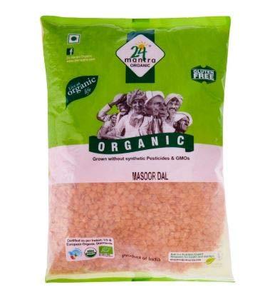 NT# 24 Mantra Organic - Masoor Dal 500 g - Dal como tal es muy famoso en alimentos indios. Un ingrediente regular utilizado en la cocina rutinaria