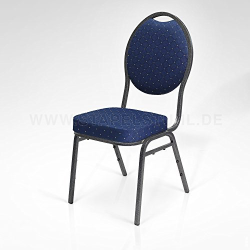 8X Stapelstuhl blau Berlin Deluxe/Bankettstuhl Stapelstühle Bankettstühle bankettstuhl stapelbar Konferenzstuhl Seminarstühle Bankettstühle Wartezimmerstuhl Wartezimmerstühle Konferenzstühle