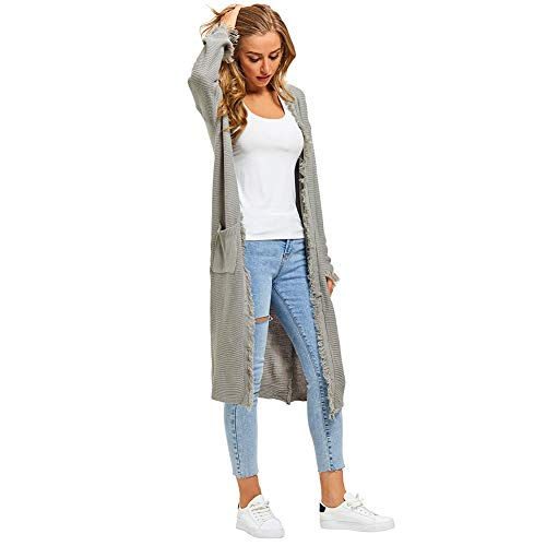 GUYUEQIQIN-Womens-Casual-Cardigan-Sweaters-Cozy-Open-Front-Long-Sleeve-Knit-Coat-with-Pockets