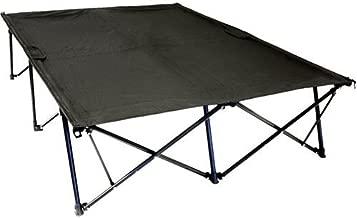 Double Kwik Tent Cot 550 lbs Sleeping Surface Camping 2 People nickel Black
