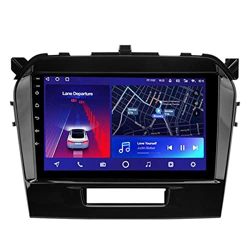 ADMLZQQ Android 10 Radio de Coche Estéreo Navegación de Automóvil para Suzuki Vitara 4 2014-2018 Bluetooth Espejo Enlace 4G WiFi DSP Control del Volante Cámara Trasera,8core 4g+wif: 3+ 32g