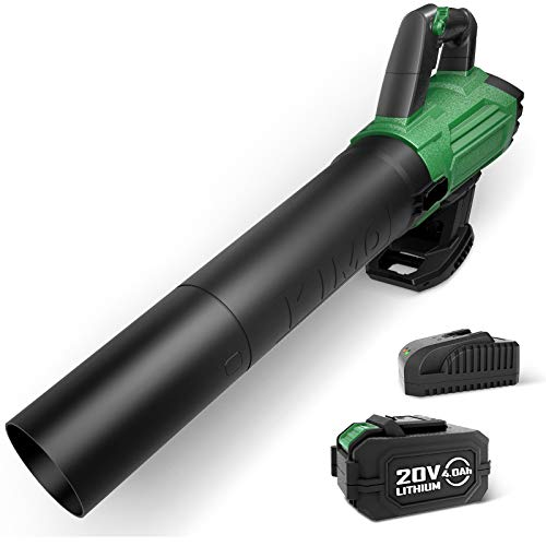 Battery-Powered Cordless Electric Leaf Blower for Blowing Wet Leaves, Snow Debris and Dust, Garden, Yard, Work Around The House (KIMO...