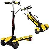 JIANGCJ Scooter infantil plegable con 3 ruedas LED luminosas, 5 altura ajustable y dirección inclinable, el mejor regalo para niños, niñas, niños, adecuado para niños de 2 a 14 años, color rosa