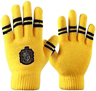 BCCAT 1pair Harry Potter Touch Gloves Gryffindor Slytherin Hufflepuff Ravenclaw Gloves (hufflepuff)