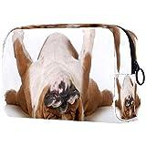 English Bulldog - Bolsa de maquillaje con sobrepeso para niños, diseño de bulldog