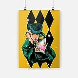 wopiaol Sin Marco Higashikata Jousuke JoJo's Bizarre Adventure Lienzo póster Pintura Pared Arte decoración Sala de Estar Dormitorio Estudio decoración Impresiones