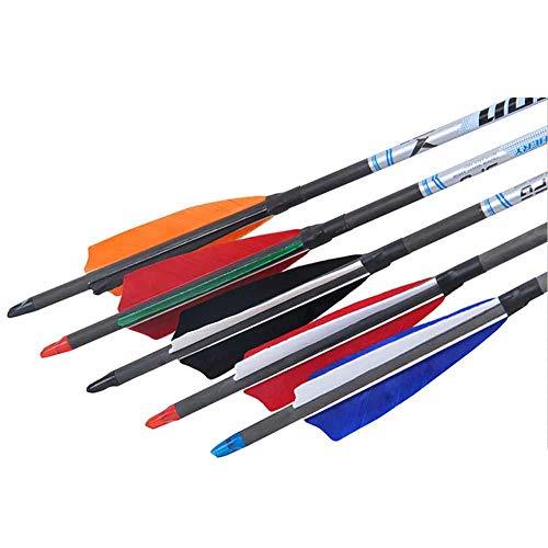 Pluma de Flecha de Tiro con Arco, Flechas de Flecha de Plumas, Pluma Natural Hermosa 4 Pulgadas de Colores para Flechas de bambú Flechas de Madera de Plumas más Gruesas con Rayas Naturales