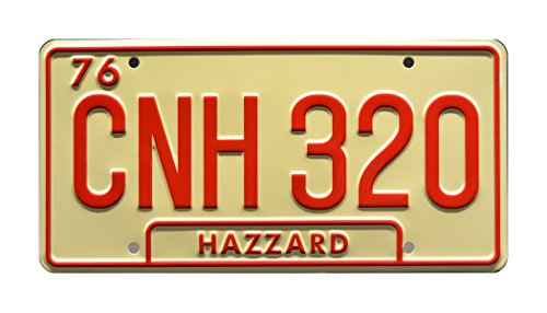 Celebrity Machines Dukes of Hazzard | 1969 Dodge Charger 'General Lee' | Georgia Edition CNH 320 | Metal Stamped Vanity Prop License Plate