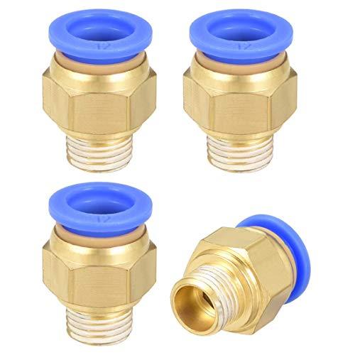 Empuje neumático recto para racores de conexión rápida G1 / 4 macho x tubo de 12 mm OD 4 piezas
