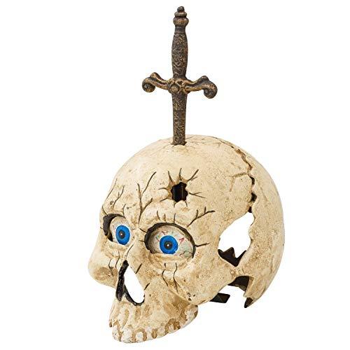 Cráneo con abrecartas hierro fundido 20cm decoración estilo antiguo