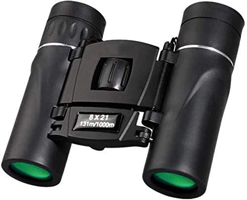 LNHJZ 8X21 Kompaktzoom-Fernglas Langstrecken 1000M Faltbare HD Leistungsstarkes Miniteleskop BAK4 FMC Optik Sportcamping