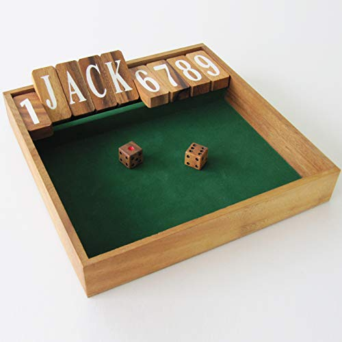 FERME LA BOITE edizione JACKPOT, gioco da bar / pub - giochi di società in legno massiccio - Più di 2 giocatori - a partire da 6 anni - gioco con dadi
