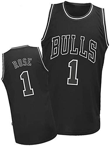XSJY Jersey De Los Hombres De La NBA - Chicago Bulls # 1 Derrick Rose Edition Jersey, Unisex Retro Bordado Malla Jersey,XXL:185~190cm/95~110kg