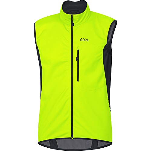 GORE Wear C3 Herren Weste GORE WINDSTOPPER, S, Neon-Gelb/Schwarz