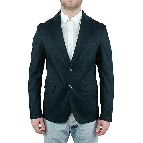 Maskio Giacca Sartoriale Slim Fit Uomo Blu Casual Elegante Aderente Man Jacket, 46 46