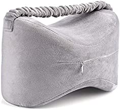 Knee Cushion Pillow for Side Sleepers, Memory Foam Leg Pillow Orthopedic Posture Supporter Leg Cushion for Back Pain Support