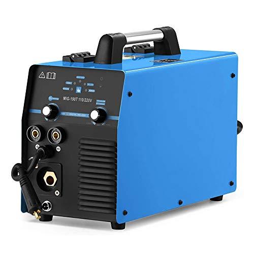 MIG190 MIG/MMA Schutzgas Schweißgerät, 190 Ampere Inverter Technik f. Schweißen mit/ohne Gas Fülldraht und Elektroden, 230V IGBT E-Hand DC Inverter, Multifunktion...