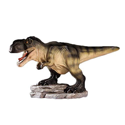 PHH Hucha de Cerdito con diseño de Dinosaurio con Dibujos Animados de Cerdito de Resina Premium, decoración del hogar, Resina, Natural, 28 * 20 * 12.5CM