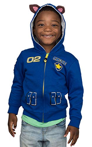 Paw Patrol Children I am Chase Zip up Blue Hoodie (Size 3T)