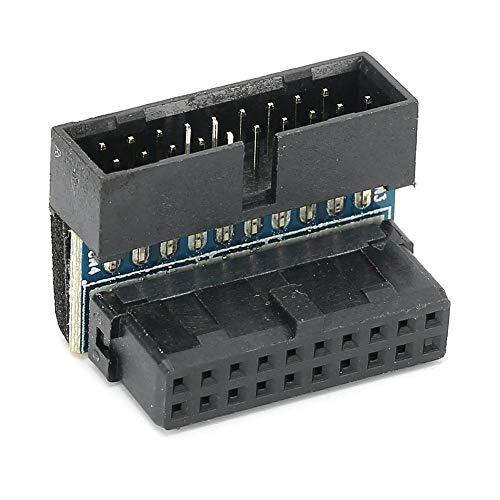 Uitbreidingsadapter voor man-vrouw, 19-pins 90 graden draaiconnector voor hostbedrading van desktopcomputeraccessoires