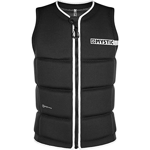 Mystic Brand Front Zip Wake Impact Vest 200183 - Black