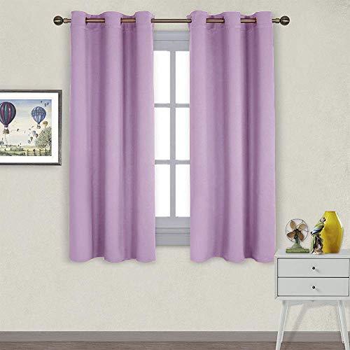 Nicetown - Cortinas opacas para teatro, cortinas de ventana con aislamiento térmico, cortinas de reducción de frío y calor para cocina (lila, 2 paneles, 106 x 160 cm)