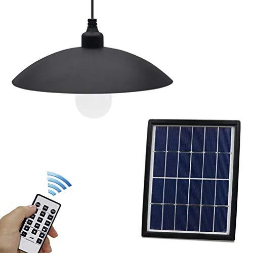 Eksesor Lámpara Colgante Solar de 3W, Luces solares Control Remoto, IP65 a Prueba de Agua, lámpara Colgante con Panel Solar Ajustable, para jardín, balcón, habitación
