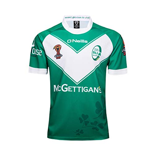 Irish World Cup Rugby Jersey, Champion Green Ireland RWC Pro Jersey, Fans T-Shirts Short Sleeve Training Sportswear Polo Shirt, The Best Gift for Husband or Son XXL