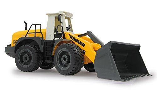 RC Auto kaufen Baufahrzeug Bild 5: Jamara 405007 - Radlader Liebherr 564 1:20 2,4G - Schaufel heben / senken / abkippen, realistischer Motorsound (abschaltbar), programmierbare Funktionen, Blinker, Autoabschaltfunktion, 2 Radantrieb*