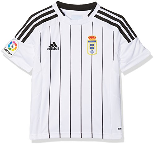adidas Fort14 Jsy Y P Camiseta Real Oviedo Fc, Niños, Blanco (Blanco), 116