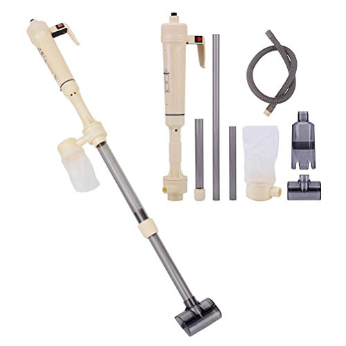 POPETPOP Fish Tank Vacuum Cleaner Syphon Operated Gravel Water Filter Cleaner Sand Washer-Electric Aquarium Cleaner Without Batteries