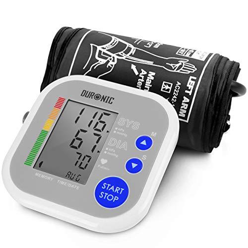Duronic BPM080 Elektronisches Oberarm Blutdruckmessgerät mit einstellbarer Manschette 22-42 cm – Automatische Blutdruckmessung – Medizinisch zertifiziert – Großer LCD Bildschirm - Ampel-Farbskala