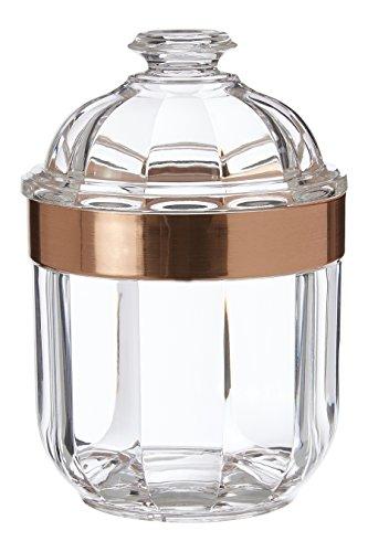 Premier Housewares Durchsichtiger Behälter, acryl, Rose Gold, S