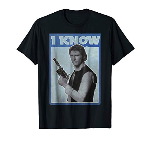 Star Wars Han Solo Iconic Unscripted I KNOW Graphic T-Shirt