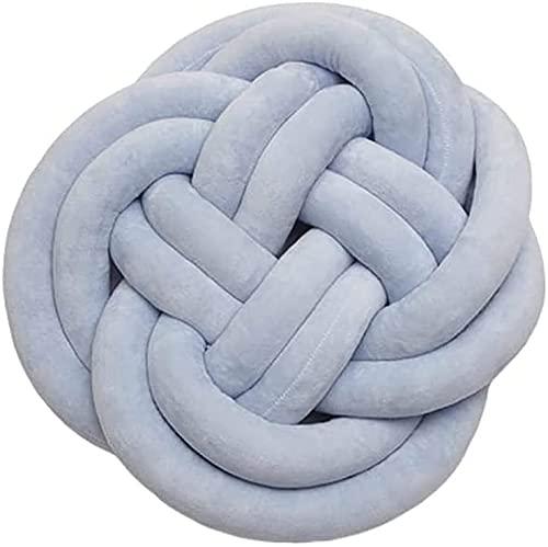 Handgemaakt creatief geknoopt balkussen gevlochten kussen balkussen blauw geknoopt kussen 45 cm pluizig kussen decoratief kussen comfortabelestoel cushio