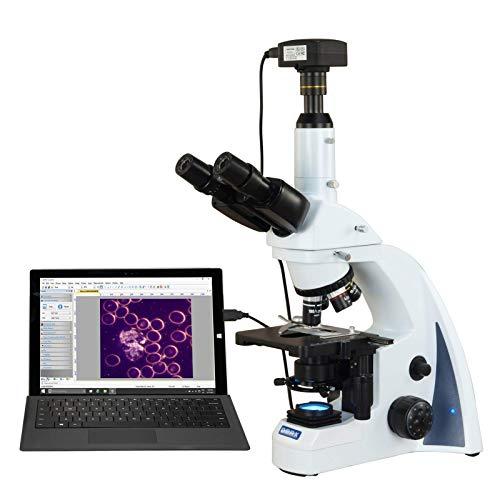 OMAX 40X-2000X 18MP USB3 PLAN Infinity Darkfield Trinocular Siedentopf LED Lab Compound Microscope