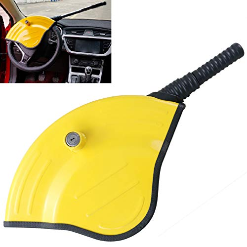 Oklead Universal Car Steering Wheel Lock - Full Cover Airbag Anti Theft Locking Device For Car Suv Pickup With 2 Keys