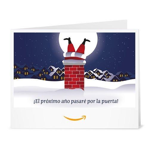 Cheque Regalo de Amazon.es - Imprimir - Santa Chimenea