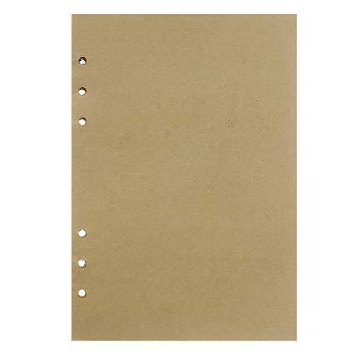 Maleden Leder-Tagebuch, Nachfüllpapier, für 5 x 7 Reisetagebuch, 160 Seiten A5 A5 Unlined