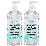 Wave Gel Hand Sanitizer | Advanced No-Rinse Gel | 75% Alcohol | Made in USA | 2 Pack of 16.9 Fl Oz Bottles