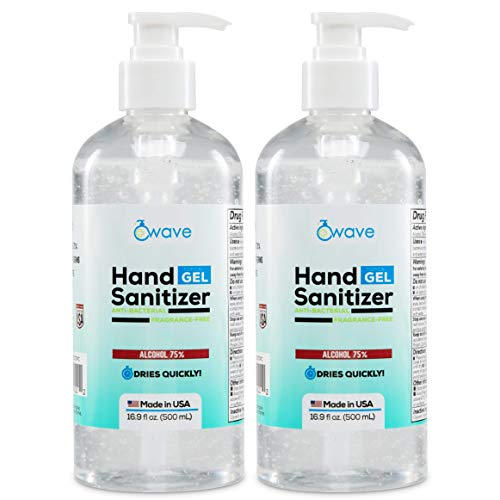 Wave Gel Hand Sanitizer | Advanced No-Rinse Gel | 75%...