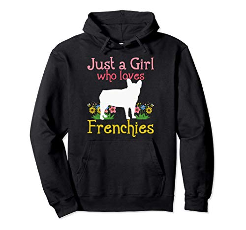 Frenchie French Bulldog Just A Girl Who Loves Frenchies Pullover Hoodie