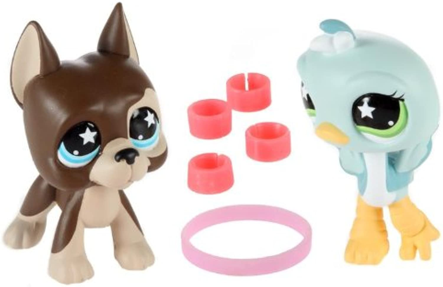 Littlest Pet Shop Sassiest Ostrich and Great Dane  817 and  818
