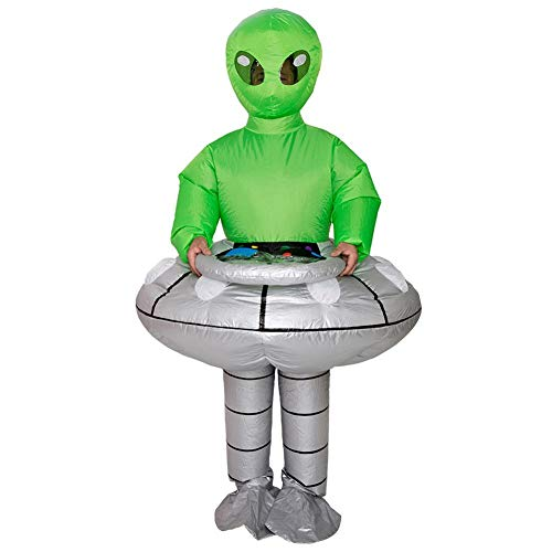 QUUY opblaasbare kostuums grappige Alien opblaasbare pak Halloween Parodie rekwisieten Cosplay Fantasy kostuum voor Audlts
