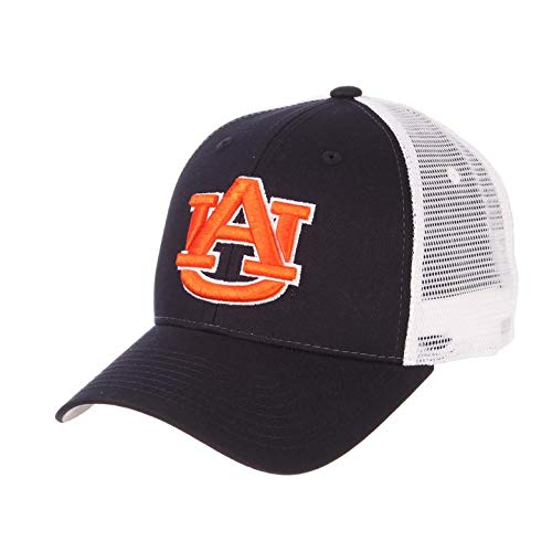 CampusHats Auburn University AU Tigers War Eagle Blue Trucker Mesh Big Rig Mens/Womens Adjustable Snapback Baseball Hat/Cap
